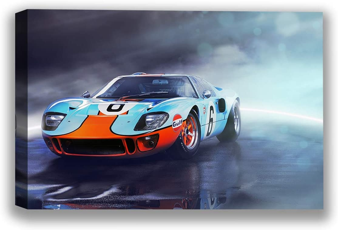 Christmas Sweater for women Vintage Car Canvas Wall Art Ford GT Home Decor Prints 1 24