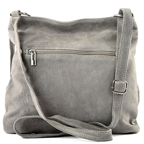 Italian Gray real T02 suede bag Beige bag handbag leather bag shoulder Women's shopper 6pq6O
