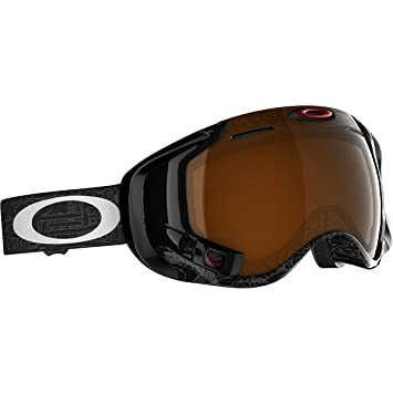 Oakley Men's Airwave Snow Goggles, Large, Silver Factory Text, Black Iridium