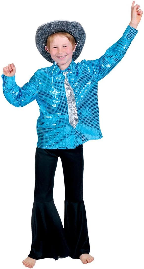 Camisa disco azul niño - De 8 a 10 años: Amazon.es: Juguetes y juegos