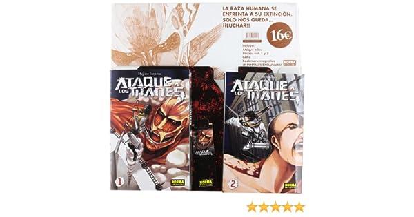 PACK ATAQUE A LOS TITANES 1+ 2 (CÓMIC MANGA): Amazon.es: Isayama,Hajime: Libros
