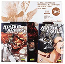 PACK ATAQUE A LOS TITANES 1+ 2 (CÓMIC MANGA): Amazon.es: Isayama ...