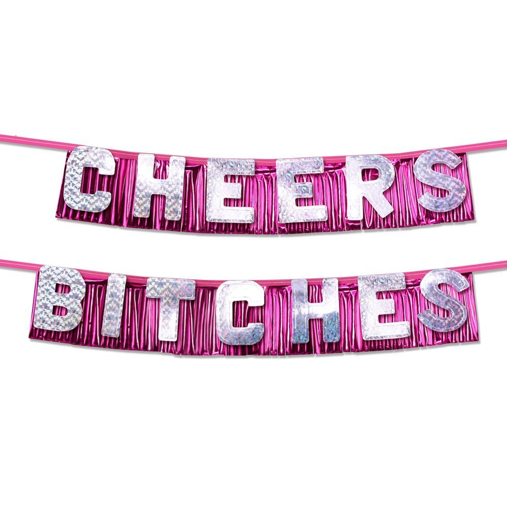 Amazon Bachelorette Party Favors Cheers Bitches Banner Health Personal Care