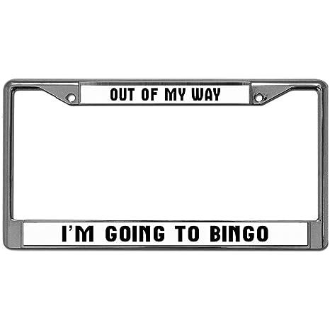 Amazon.com: Funny Life Quotes Chrome License Plate Frame,I ...