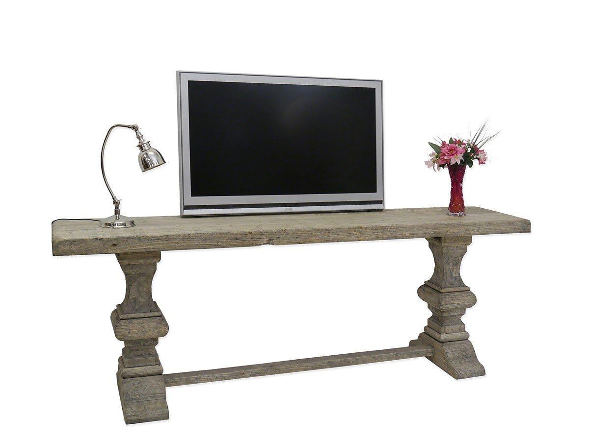 Wandtisch TV-Tisch Konsolentisch 220 cm Pappelholz