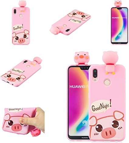 Amazon.com: Maoerdo Huawei P20 Lite Funda, 3D lindo animal ...