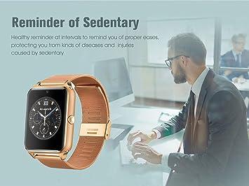 Smart Watch GT08 Z60 hombres mujeres bluetooth muñeca Smartwatch soporte SIM / TF reloj de pulsera para Apple teléfono Android , Oro: Amazon.es: Electrónica