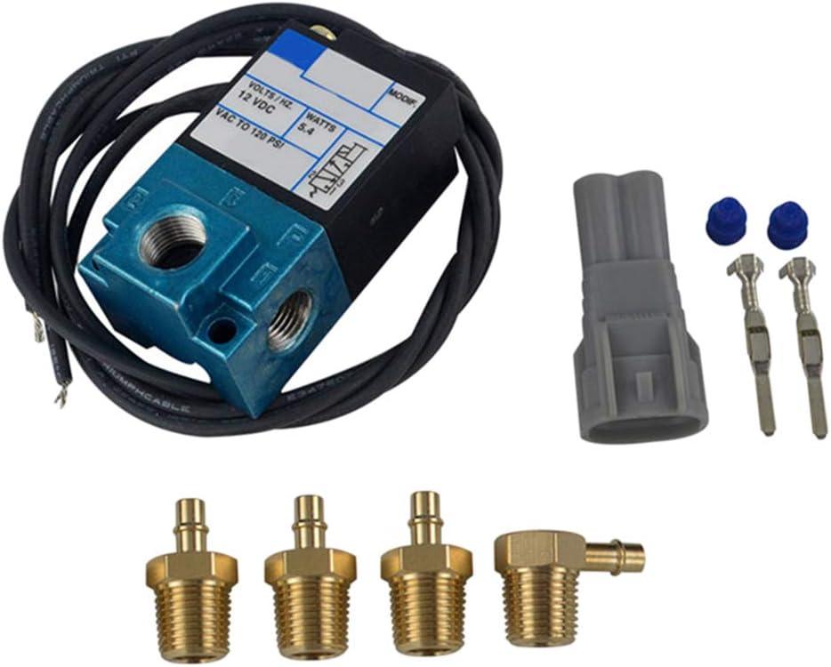 balikha 3 Port5.4W Electronic Boost Control Solenoid Valve W//Brass Silence