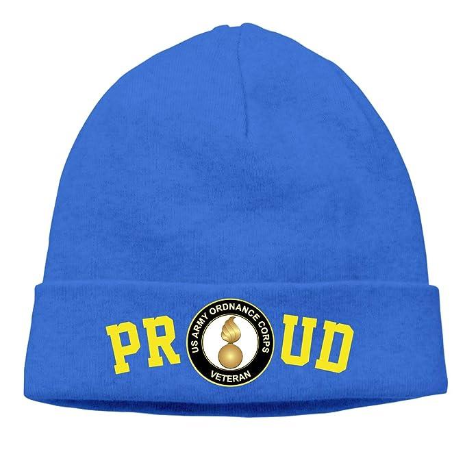FORDSAN CP Proud US Army Veteran Ordnance Corps Mens Beanie Cap Skull Cap Winter Warm Knitting Hats.