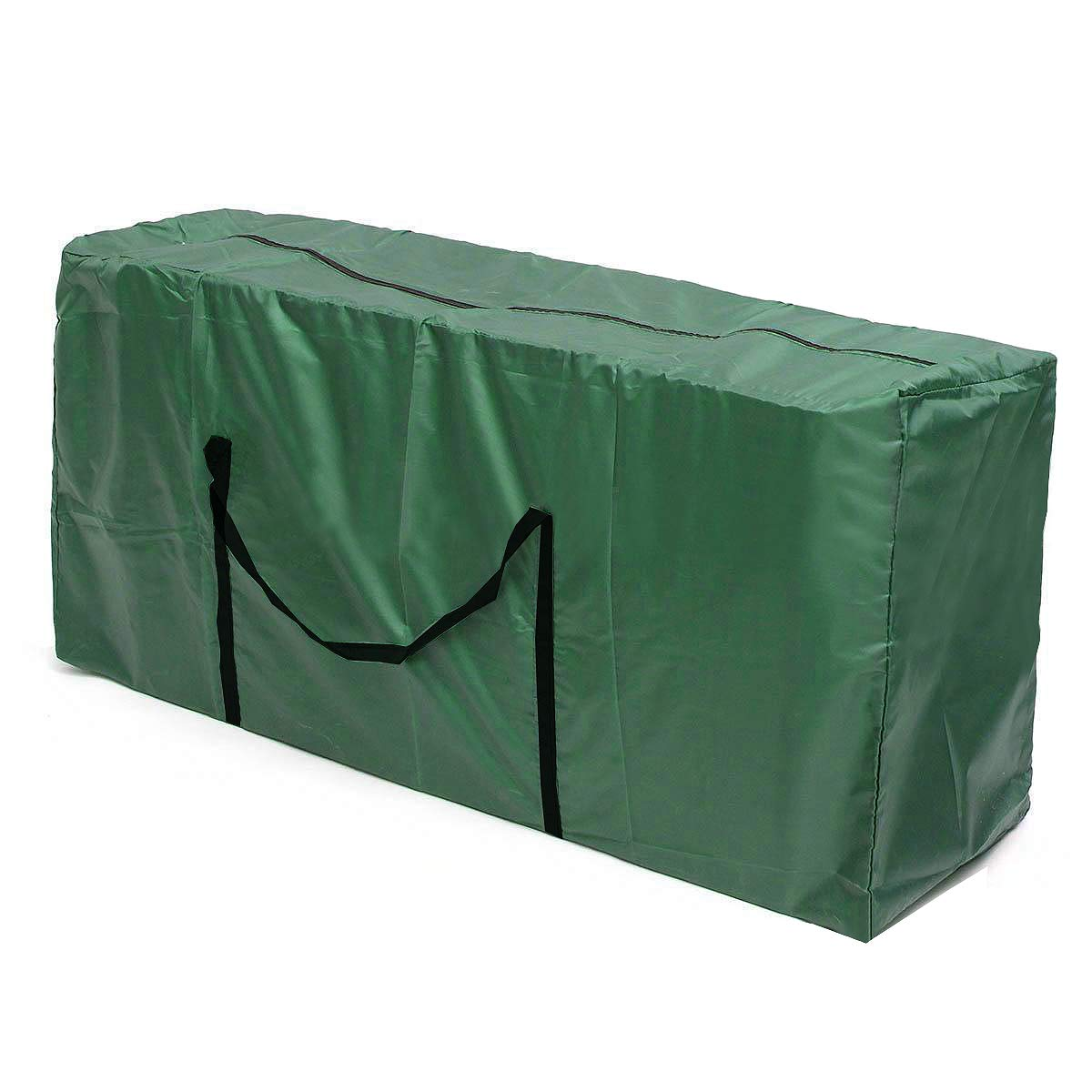 Sqoto Premium Green Christmas Tree Storage Bag Oxford Canvas Holiday Rolling Tree Storage Bag Heavy Duty Storage Container Fits Trees Up to 9 Foot Tall - 68'' x 20'' x 30''