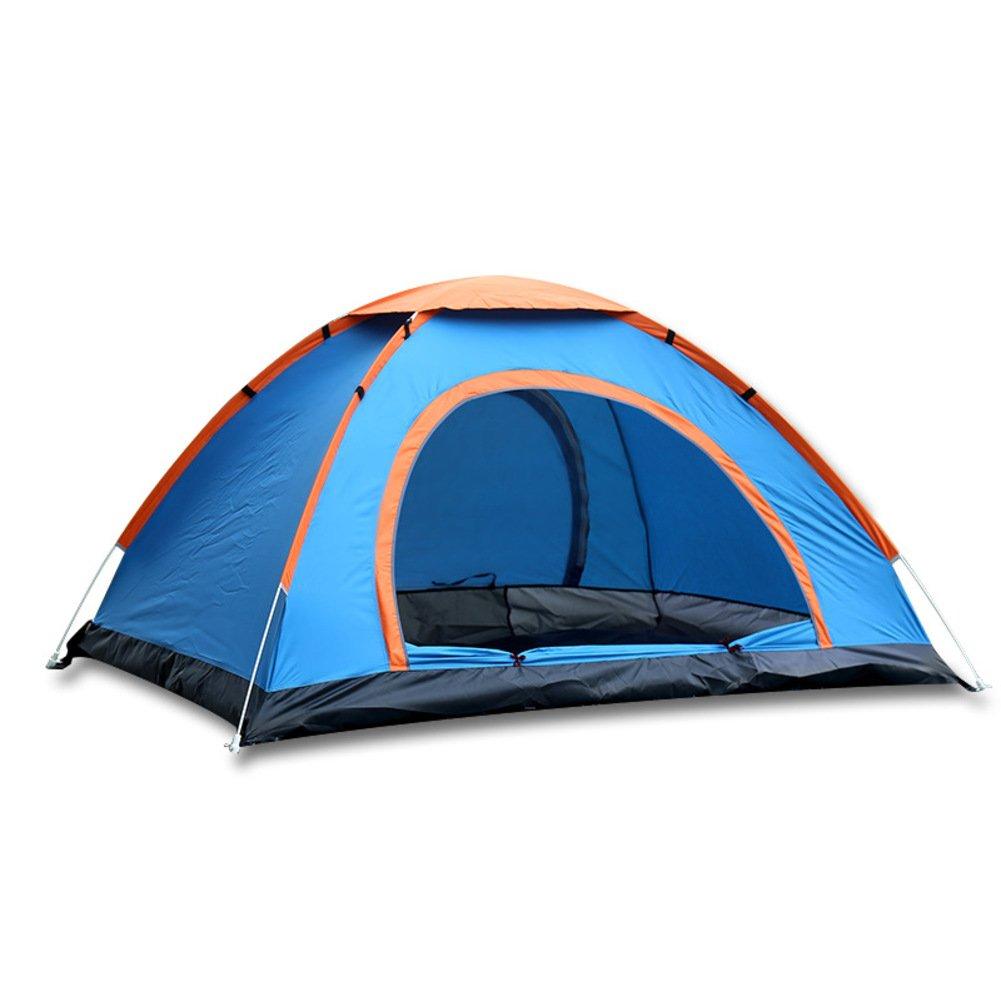 TY&WJ Familienzelt,Doppeltür Geschwindigkeit Zelte Kuppelzelte Für Outdoor-sportarten Klettern Wandern Tipi Portable Faltung 3-4 Personen