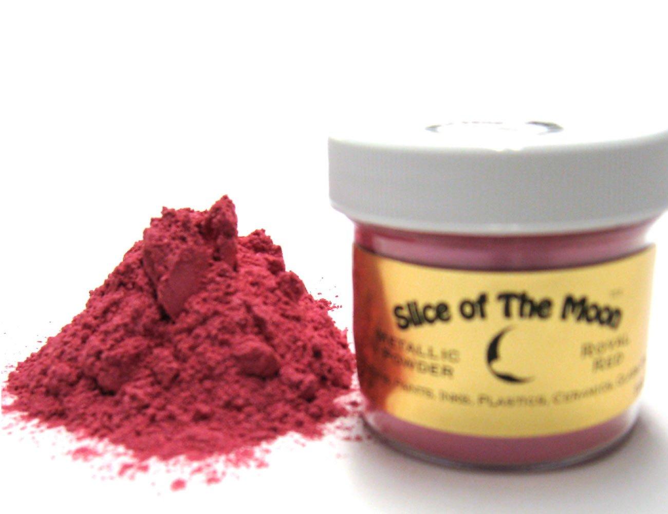Rose Red Mica Powder 1oz, Metallic Pink Powder, Cosmetic Mica, Slice of the Moon