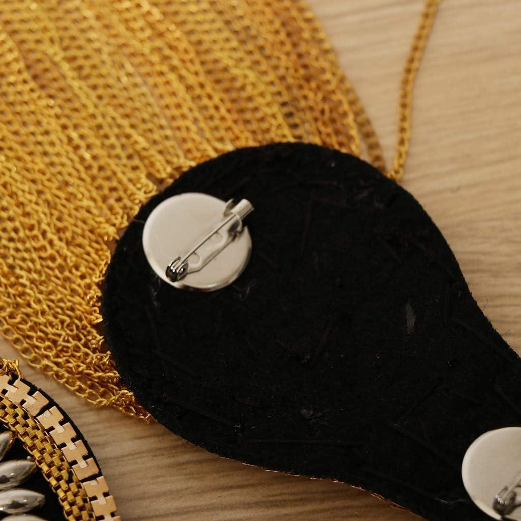 Gold 1 Paar Quaste Epaulette Schulter Brosche Abzeichen Metallisch