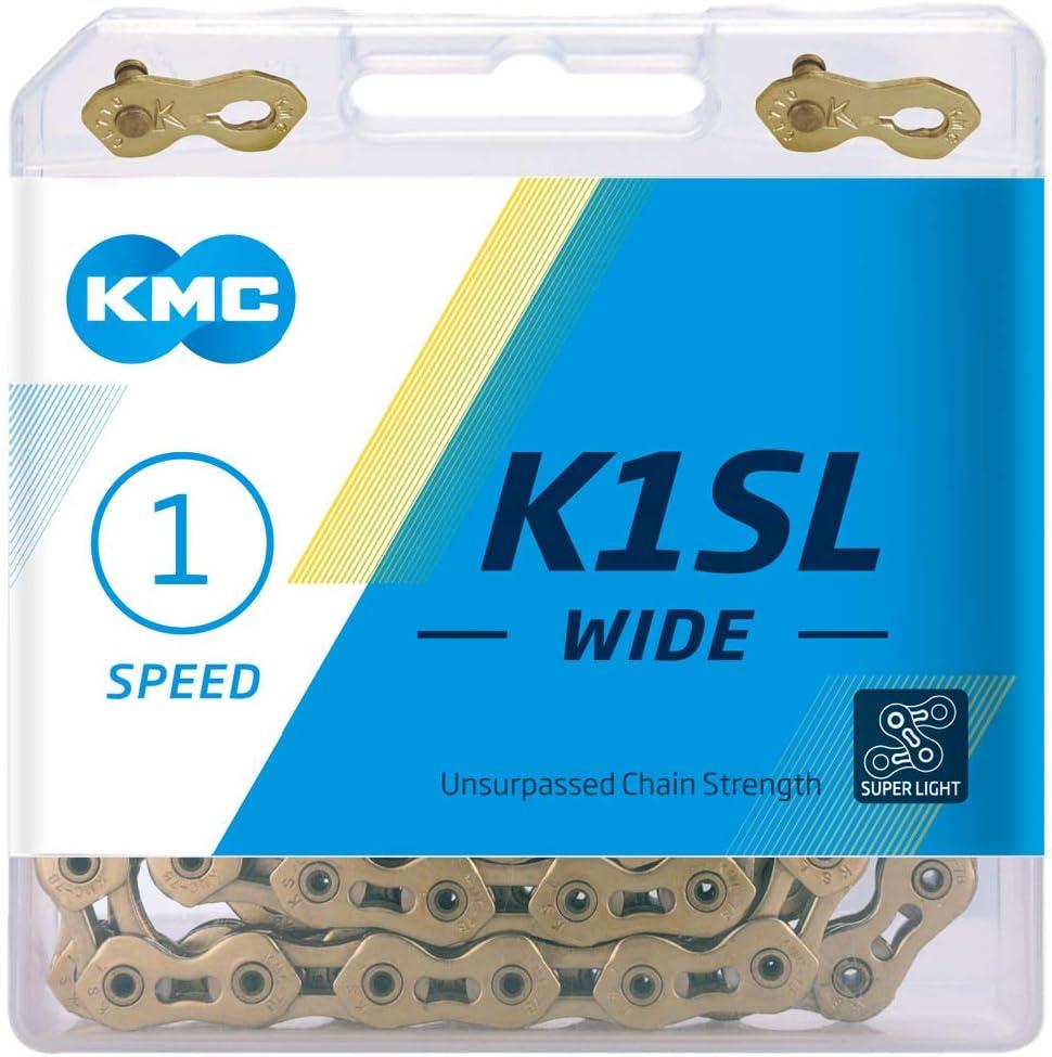 1//8-100 Link Dorado Unisex Adulto KMC K1SL Wide Cadena