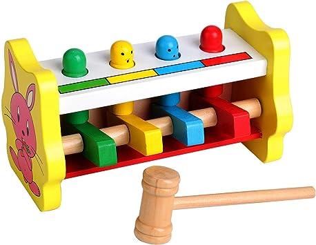 Giocattoli e Giochi di Legno per Giochi Bambini 2 Anni, Giocattolo