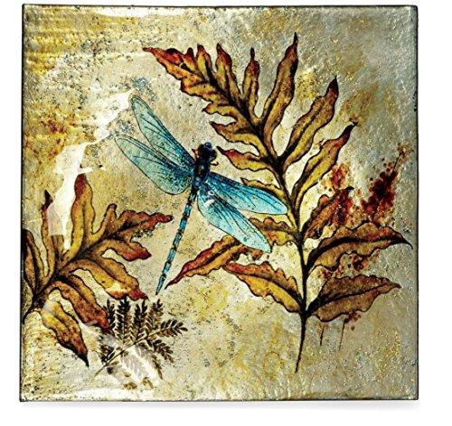 "AngelStar 19163 Dragonfly Spirit Square Plate, 7-1/2"""
