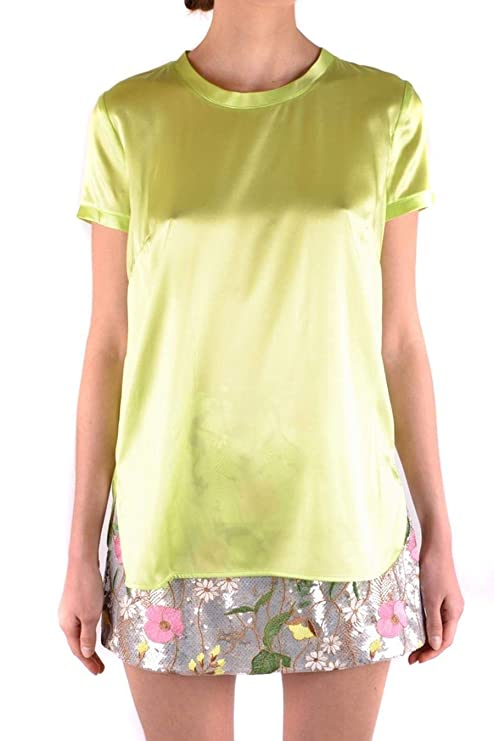357dc3fbdb9ae Pinko Women s 1G12S049982H1C Yellow Silk Blouse  Amazon.ca  Sports    Outdoors