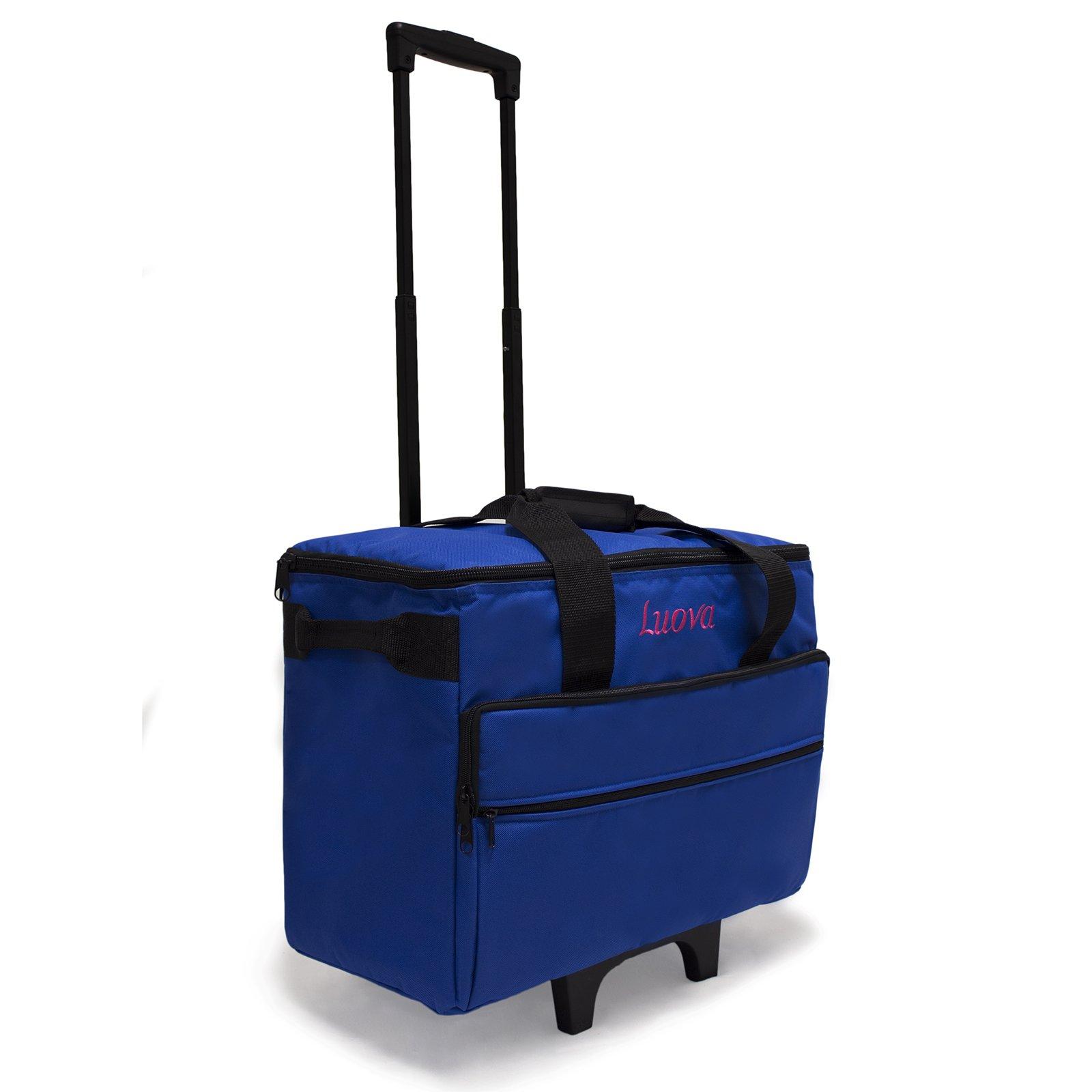 Luova 19'' Rolling Sewing Machine Trolley in Cobalt Blue by Luova