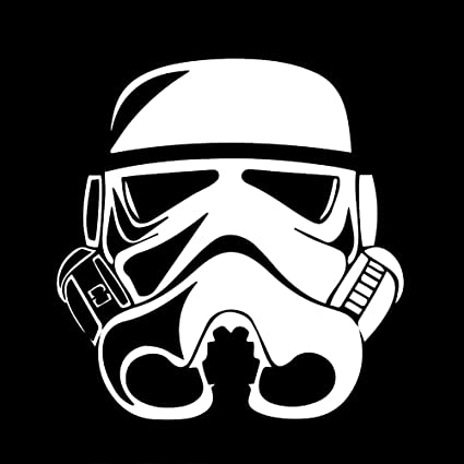 Stormtrooper Helmet Silhouette Vinyl Sticker Car Decal (6u0026quot; ...