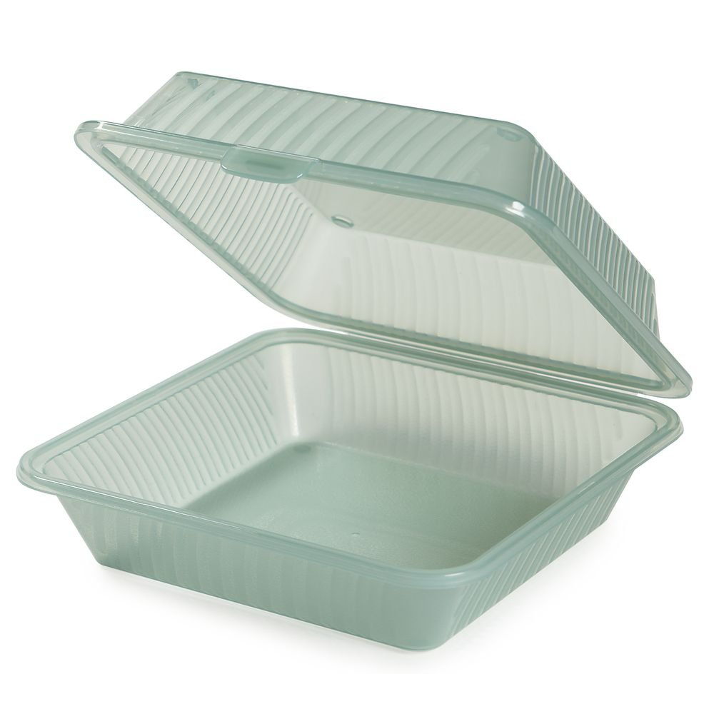 G.E.T. 1 Compartment Jade Polypropylene Eco-Takeout Container - 9