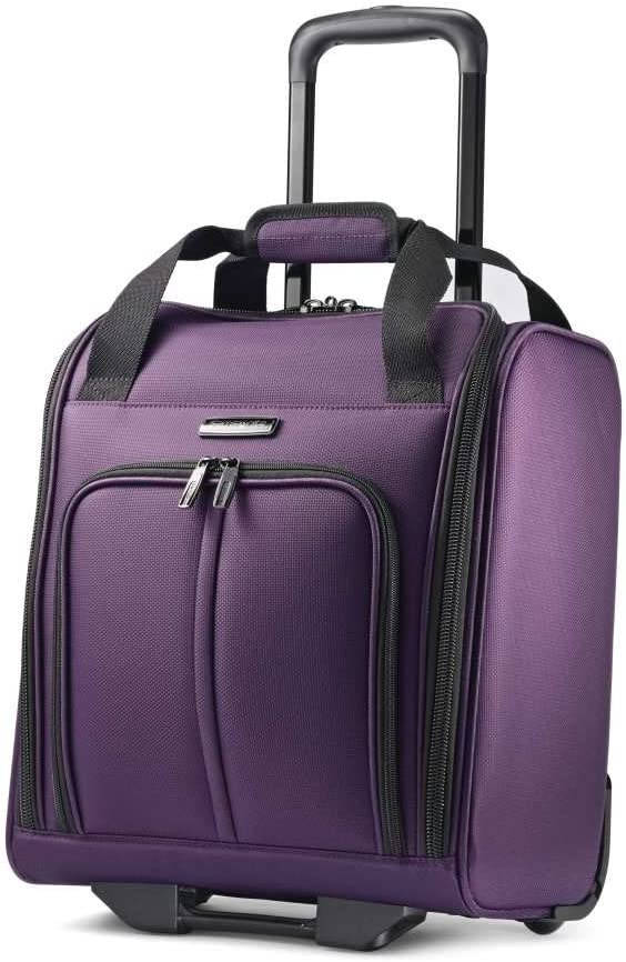 Samsonite Leverage LTE Softside Expandable Luggage with Spinner Wheels, Purple, Underseater