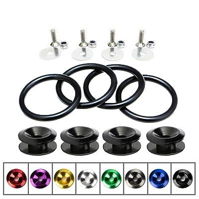 Rolling Gears JDM Bumper Quick Release Front Rear Bumper Fasteners, 4 Piece (Black), 4 x O-Ring: Automotive