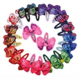 Wensltd Clearance! 1 Pair Fashion Baby Girls Hair Accessories Bowknot Butterfly Hairpin Headdress (White)