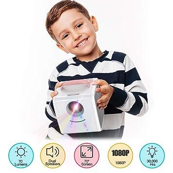 WHLDCD Proyector Proyector de Juguetes para niños Multimedia ...