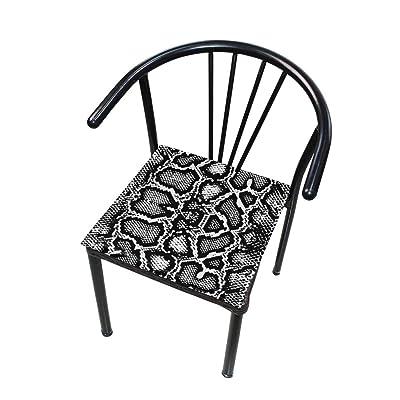 Bardic FICOO Home Patio Chair Cushion Animal Snake Print Pattern Square Cushion Non-Slip Memory Foam Outdoor Seat Cushion, 16x16 Inch: Home & Kitchen