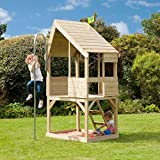 TP Toys Chalet Wooden Playhouse With Fireman Pole