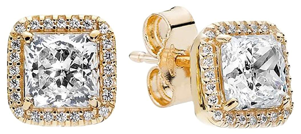 cf3762fad Amazon.com: Pandora Timeless Elegance Stud Earrings (250327CZ): Sports &  Outdoors