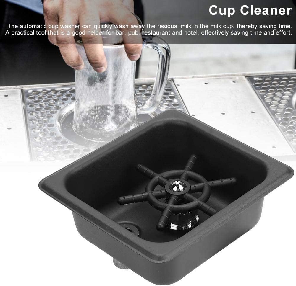 Zer one1 Durable Matte Black Cup Rinser for Bar Coffee Shop Cup Washer