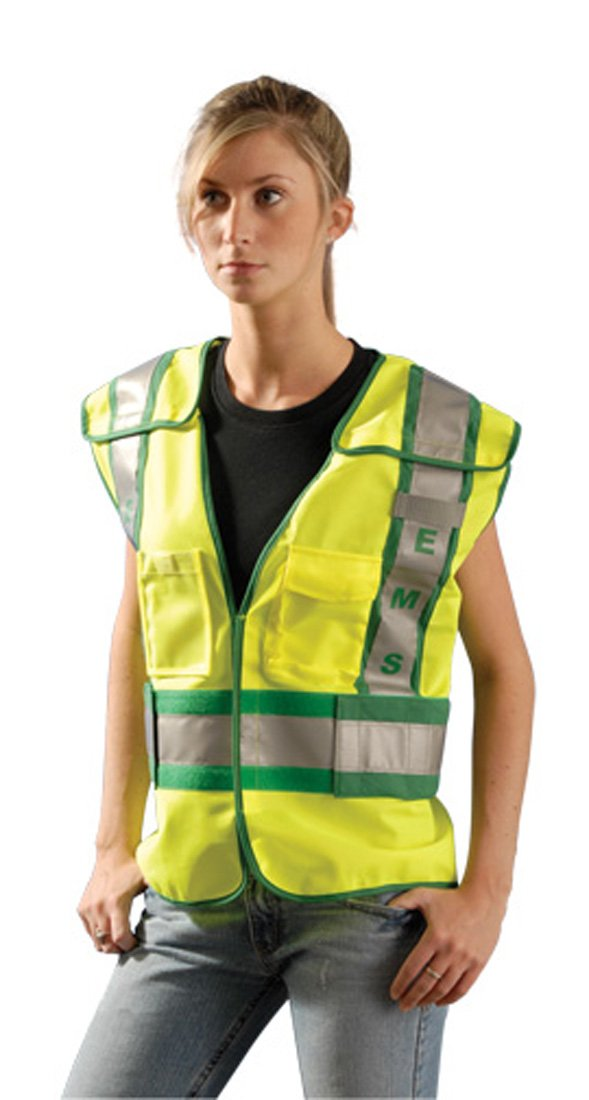 Yellow Trumbull Industries Dummy Code for Tools Occunomix LUX-PSE-YM//L Premium Solid Public Safety EMS Vest Medium//Large