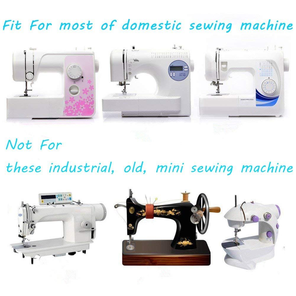 New Home Elna Toyota and White Low Shank Sewing Machines Janome Simplicity Singer Necchi Babylock Eurlove Sewing Machine Presser Feet Kit Set 42 pcs for Brother Kenmore