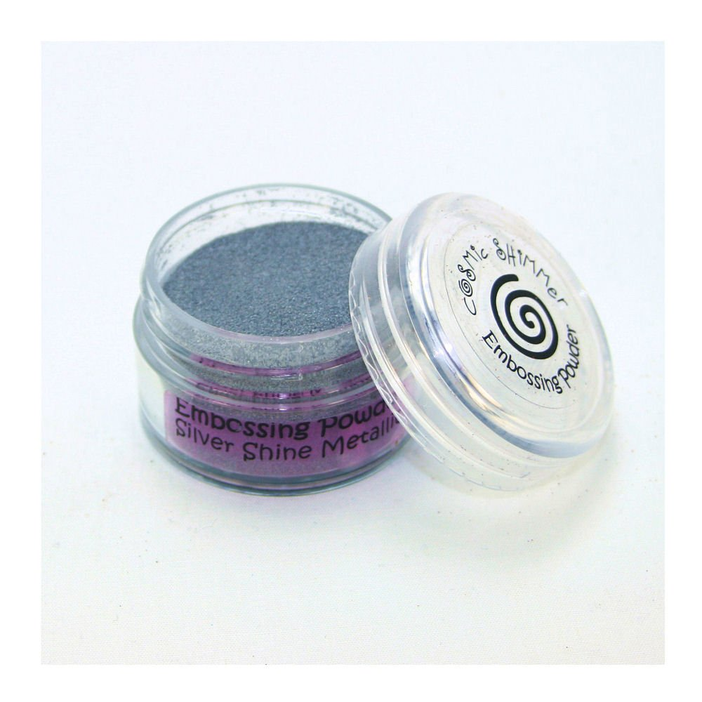 Cosmic Shimmer Precious Metal Embossing Powder, Silver Shine Metallic Creative Expressions CSEPSILMET