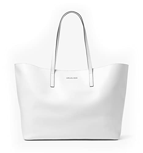 53d13f5702 MICHAEL MICHAEL KORS Emry Extra-Large Leather Tote Bag (Optic White ...