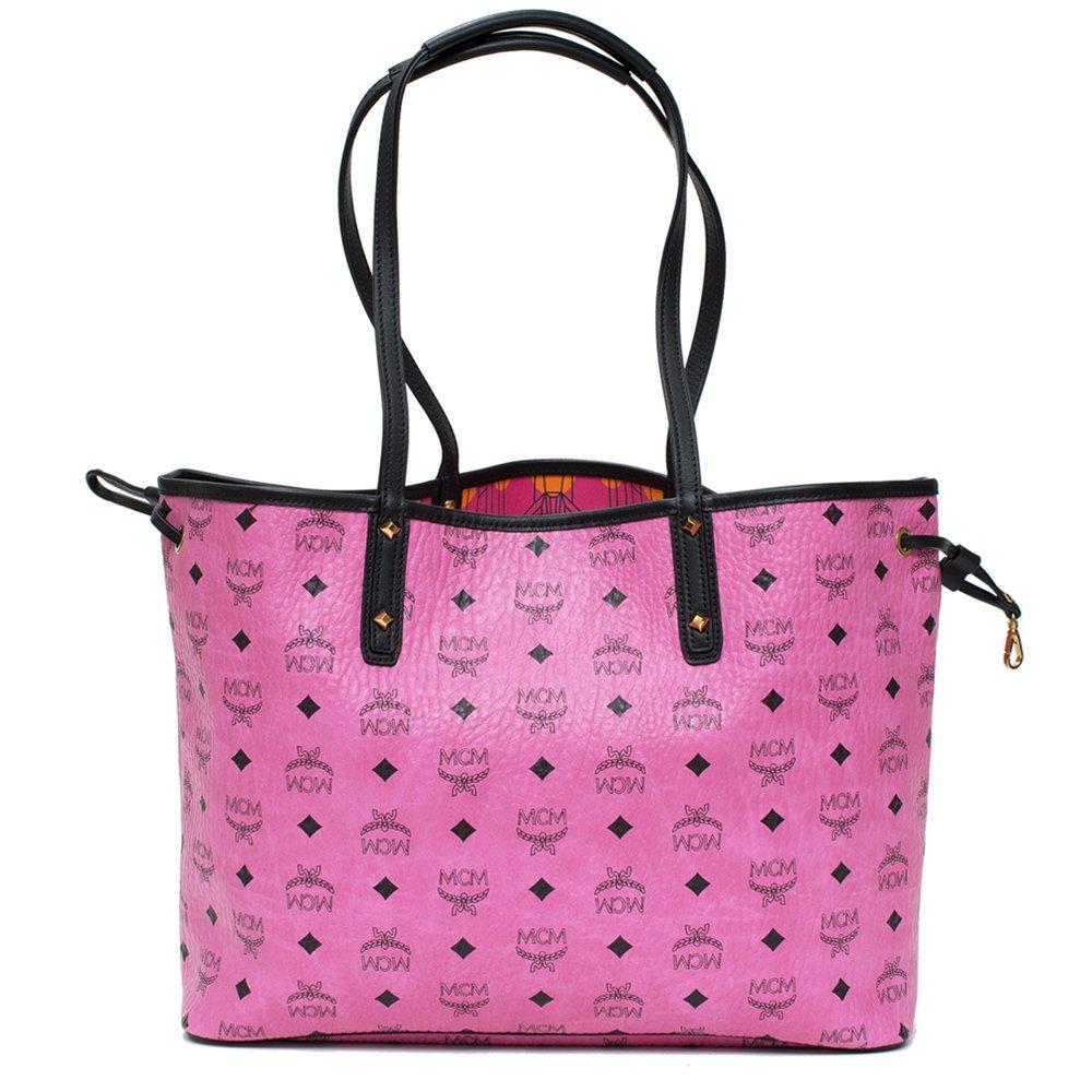 d066e3bc9f00 MCM Medium Visetos Collection Reversible Shopper Pink New  Handbags   Amazon.com