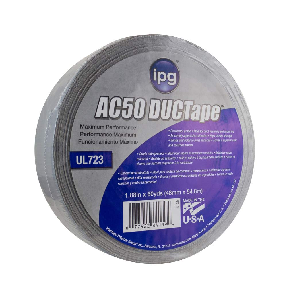 IPG AC50 14 Mil Premium Grade Duct Tape 1.88'' x 60 yd, Silver