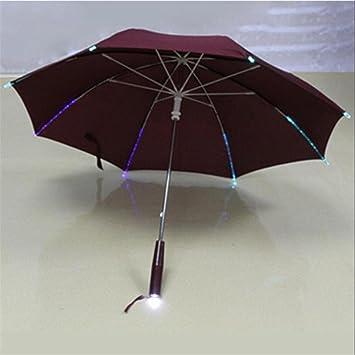 MTTLS paraguas LED 7 paraguas de luz de color protección UV Parasol impermeable noche iluminación paraguas
