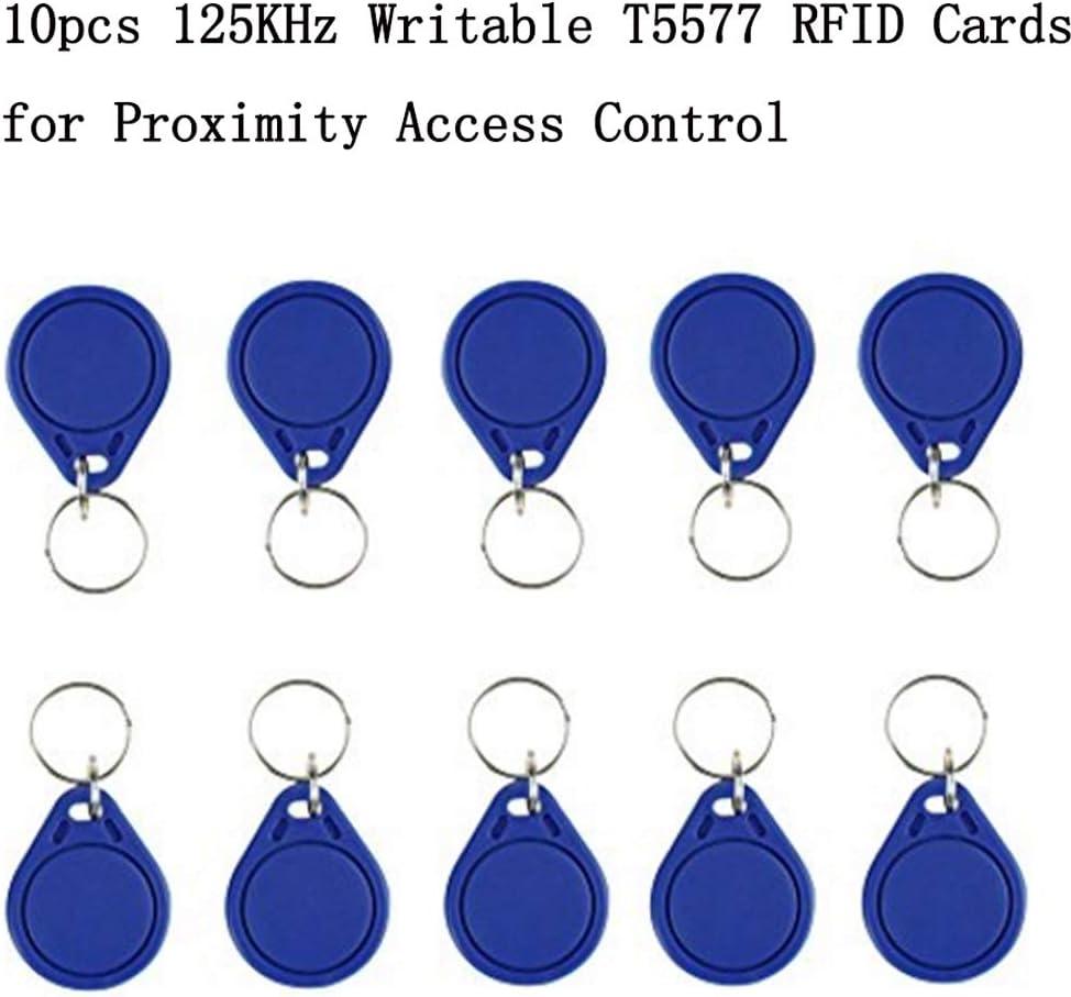 OBO HANDS Handheld 125KHz RFID Blocking Reader Writer Copier Duplicater Not Support HID 10pcs Writable T5577 Key Cards