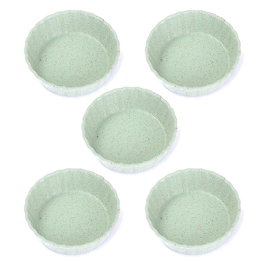 5 piezas de cuencos de Gespout, para salsas, redondos, para cocina, de plástico, verde, 6.8*2.3CM: Amazon.es: Hogar