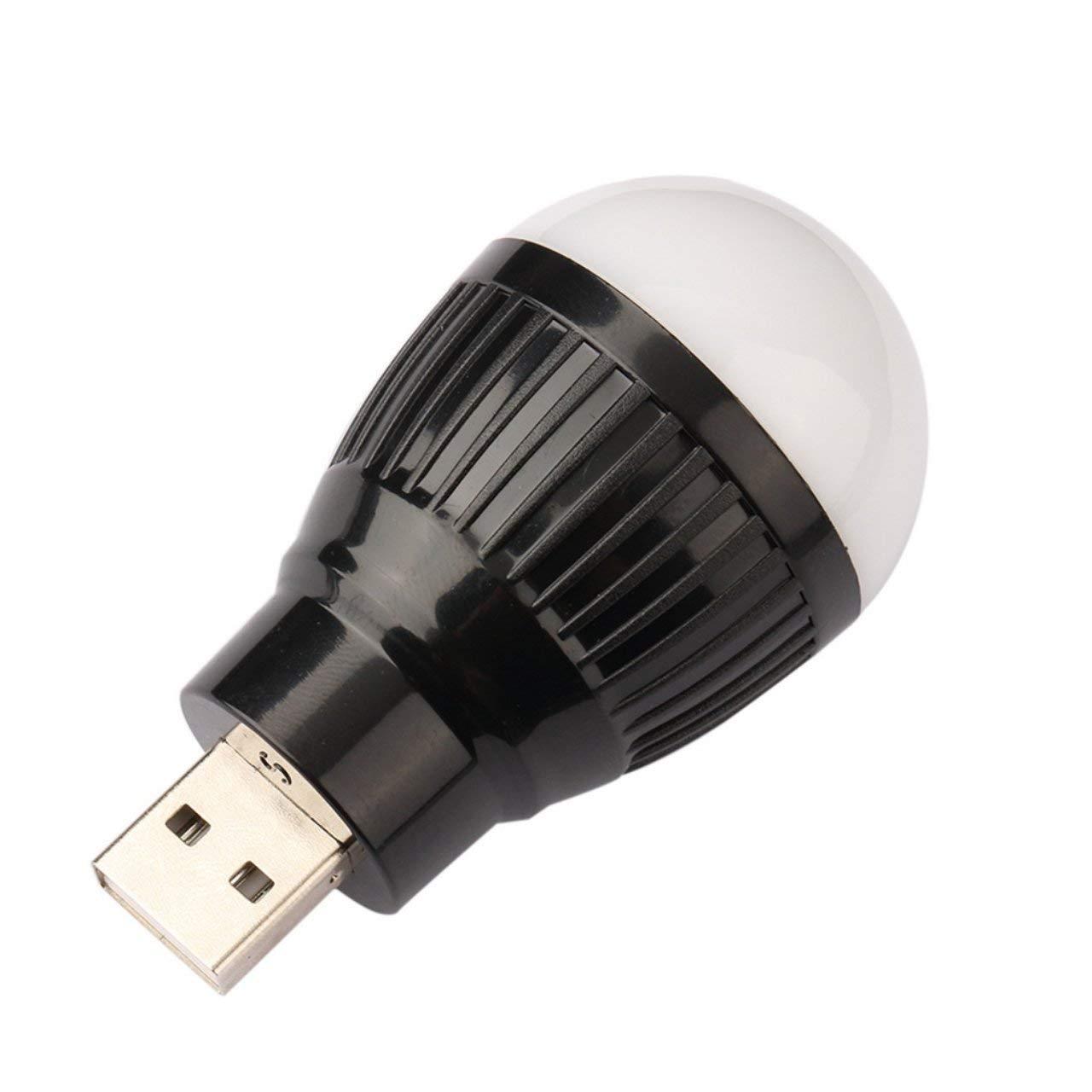 Portable Small and Lightweight Energy Saving Durable Mini USB LED Light Lamp Bulb For Computer Laptop PC Desk Reading Jasnyfall black
