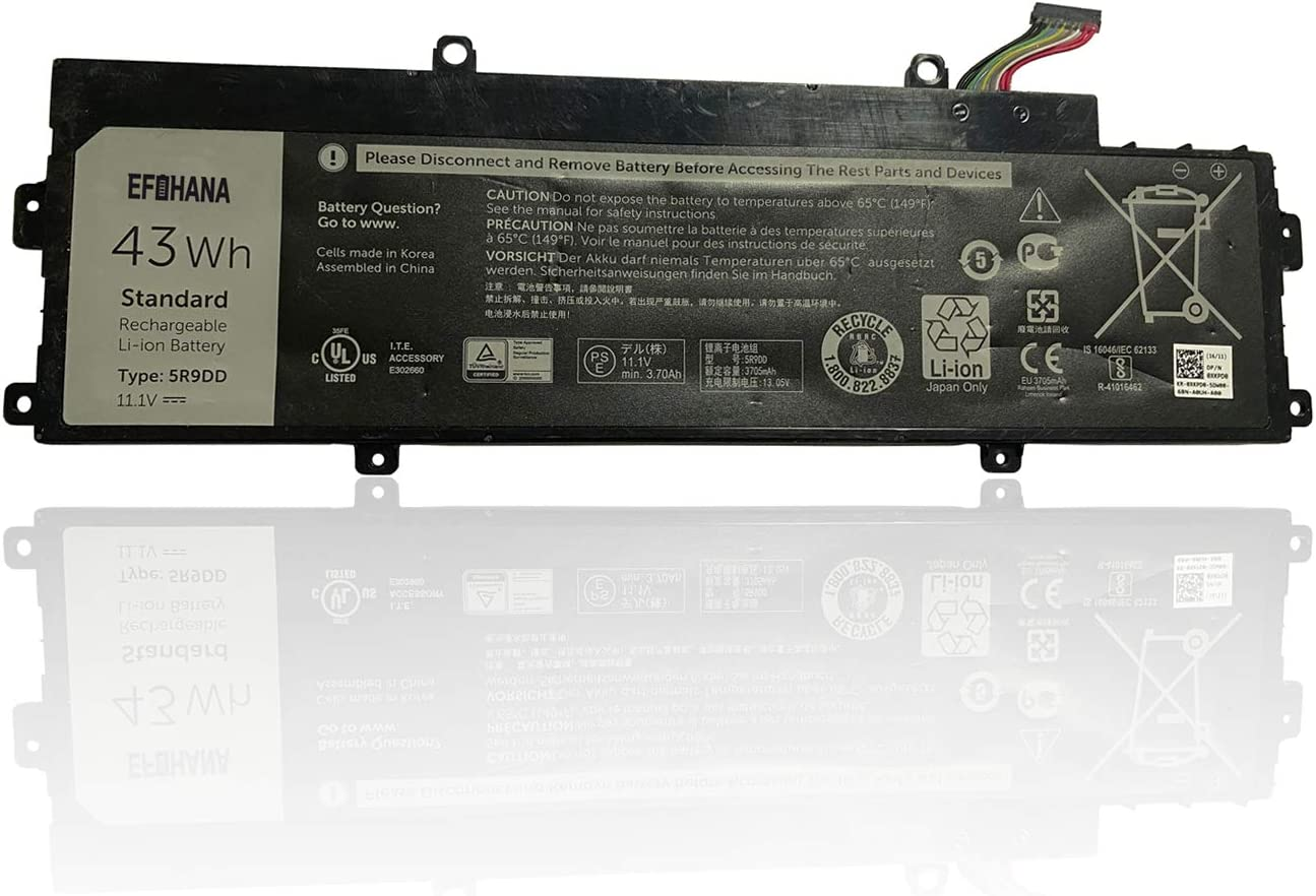 EFOHANA 5R9DD Laptop Battery Replacement for Dell Chromebook 11 3120 P22T P22T001 Series Notebook 0KTCCN KTCCN XKPD0 11.1V 43Wh 3800mAh