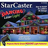 StarCaster Laser LED Light Projector, Outdoor Laser Lightshow Projection Machine with Red & Green Dancing Lights - Great Christmas Lights for the Holidays