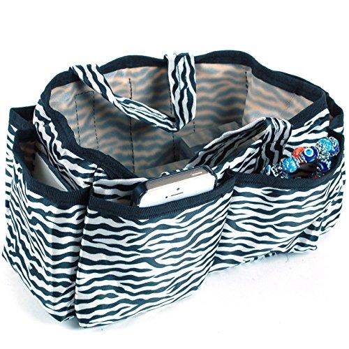 purse organizer inserts zebra - 2