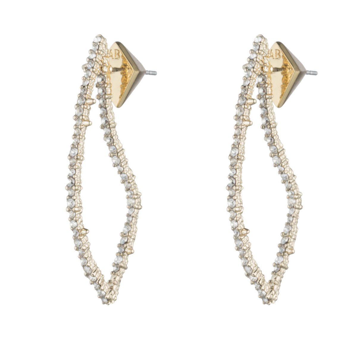 Alexis Bittar Crystal Encrusted Abstract Thorn Post Drop Earrings, 10K Gold