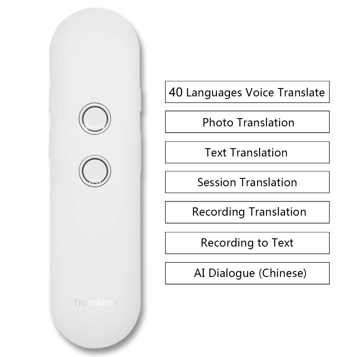 Language Translator Real Time Instant Two Way Speech Translate with Text Photo Recording Translation Support Chinese AI Dialogue Black OXSII 2019 New Updated 40