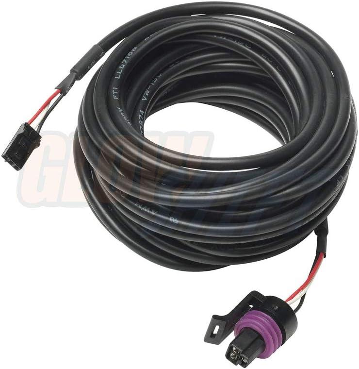 GlowShift 18ft Pressure Gauge Sensor Harness for 7 Color /& 10 Color Digital Series Oil Pressure Extended Length for Trucks Fuel Pressure /& Nitrous NOS Pressure Gauges