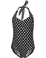 Finelook Baby Girls Cute Polka Dot Printing One Piece Tankini Swimsuit 2-7Y