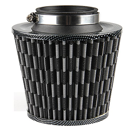 3' Intake Filter - Air Filter,POSSBAY 75mm 3'' Air Intake Cleaner Clamp On for Car Motorcycle